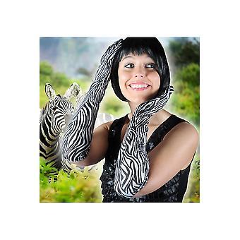 Guantes guantes de las mujeres cebra