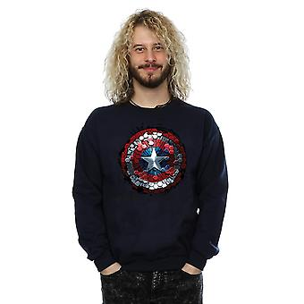 Émerveillez-vous des Captain America guerre civile bouclier Hex Sweat-shirt hommes