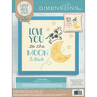 Cathy Heck To The Moon Counted Cross Stitch Kit-10
