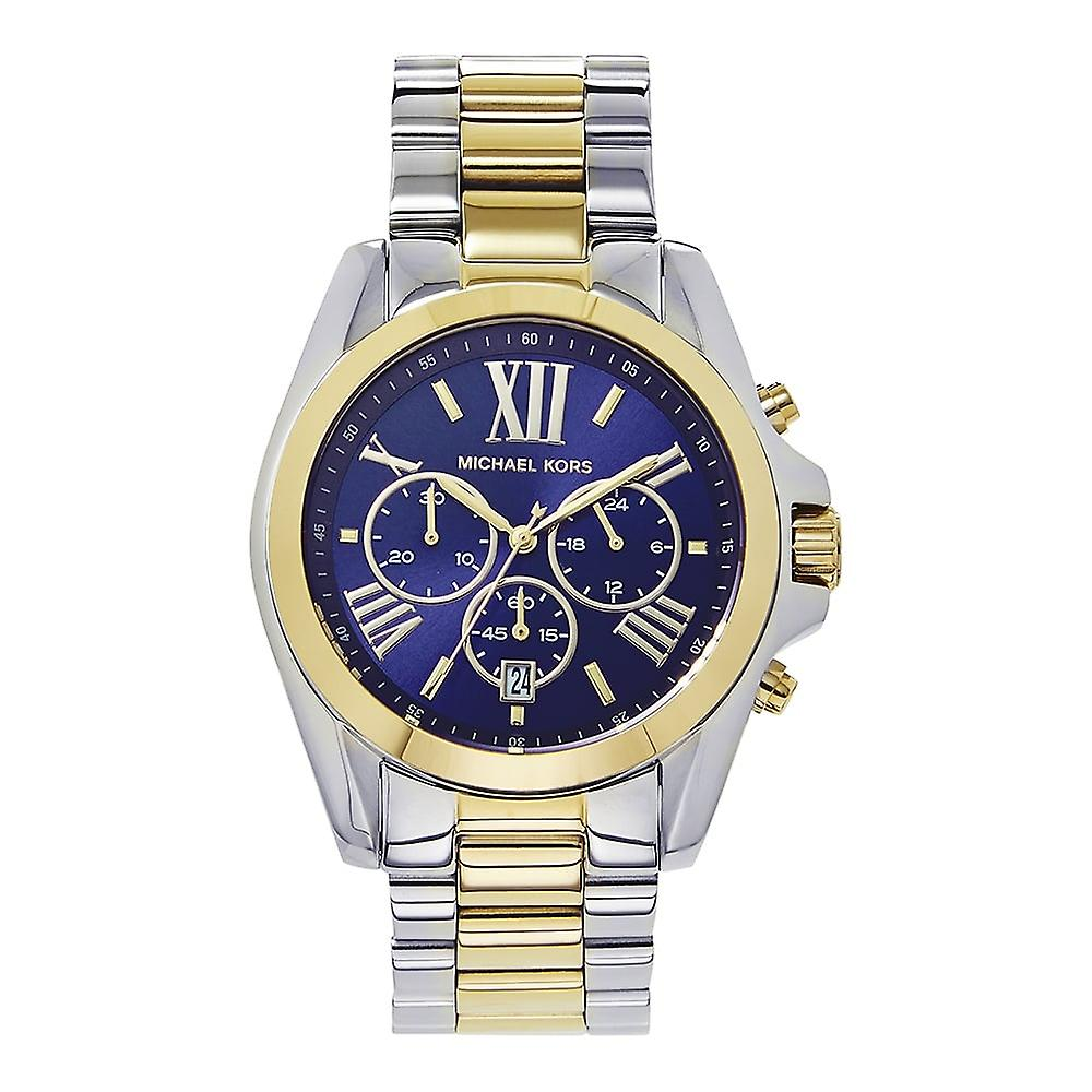 Michael Kors Watches Mk5976 Bradshaw Blue & Two Tone Stainless Steel Chronograph Mens Watch