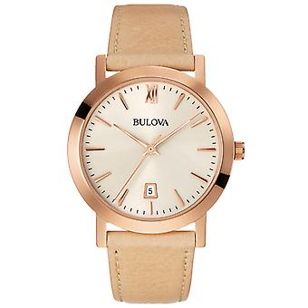 Bulova Men's Rose Leather Watch 97B144