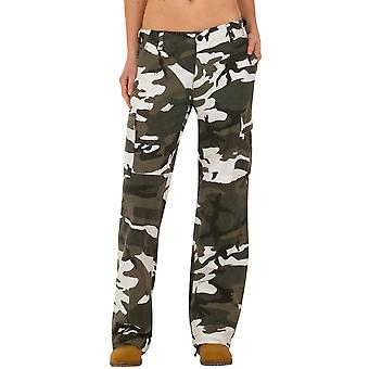 Jambes larges Camouflage Cargo Pants - vert & blanc