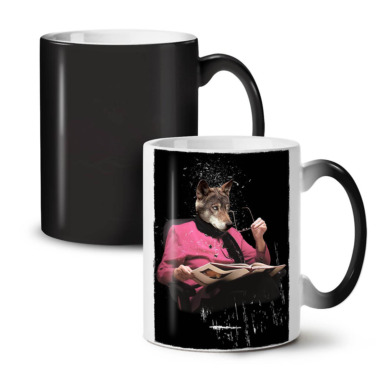 Sir Colour Coffee Mug Bookworm New Tea Ceramic Changing Wolf OzWellcoda Black 11 jqMLSzVGUp