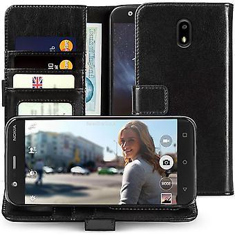 OnePlus 5-ID plånbok i äkta läder - svart