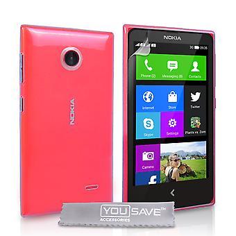 Yousave tillbehör Nokia X Hard Case - kristallklart