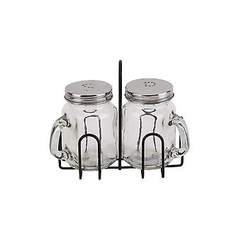 CGB Giftware Loft Drinking Jars Salt And Pepper Set