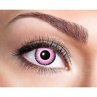 Pink contact lens manga eyes pink Barbie