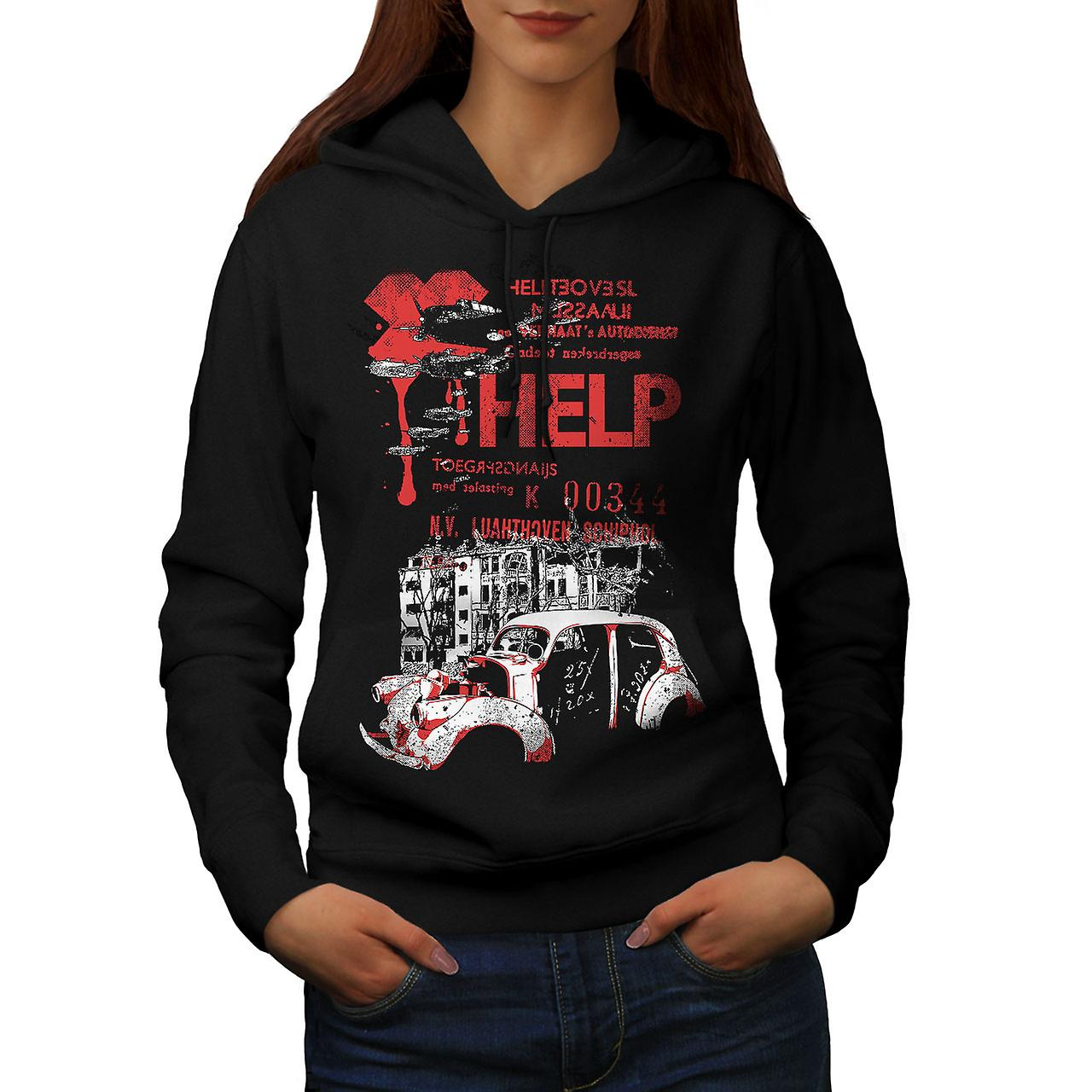 Help Hell City Fashion Women Black Hoodie | Wellcoda