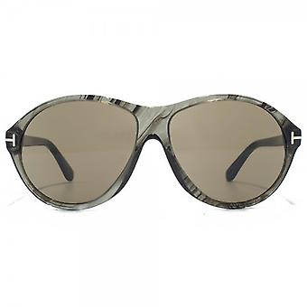 Tom Ford Tyler Sunglasses In Grey Marble