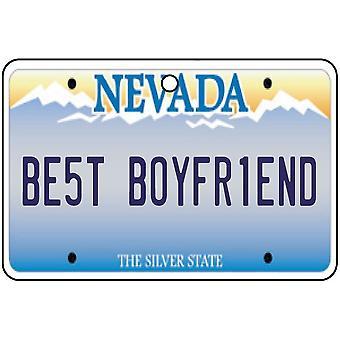 Nevada - Best Boyfriend License Plate Car Air Freshener