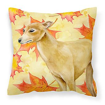 Italian Greyhound Fall Fabric Decorative Pillow