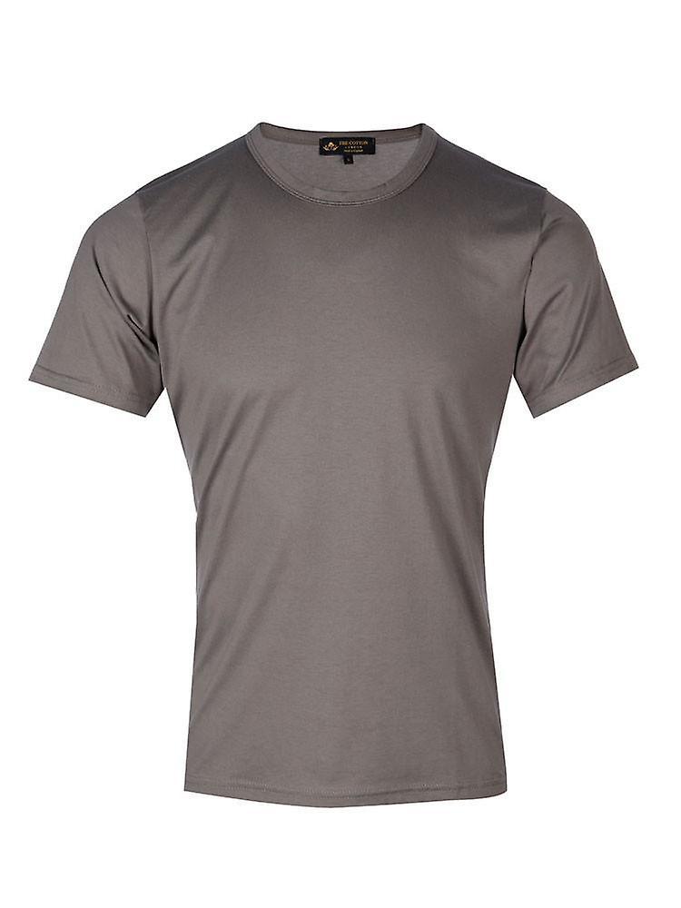 Short Sleeve Crew Neck - Grey
