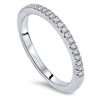1 / 6ct лаборатории созданы Diamond свадебное кольцо 14K Белое золото