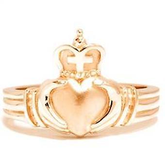 Gelb Gold Mens Claddagh Hochzeit Jahrestag Ring