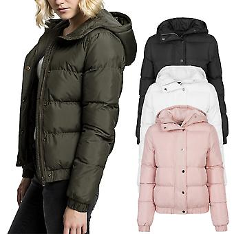 Urban classics ladies - hooded buffer quilted winter jacket
