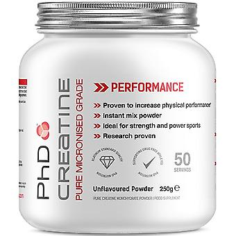 PhD Creatine Monohydrate Unflavoured 250 gr (Sport , Muscle mass , Creatine)