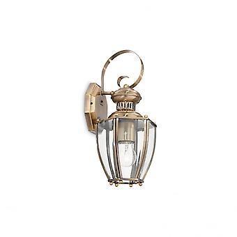 Идеальные Lux норма бронзовый стену фонарь с прозрачным стеклом