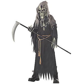 Dark Messenger Grim Reaper Skull Skeleton Horror Halloween Boys Costume