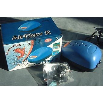 Superfish Air Flow 2 outputs Air pump for aquarium fish tank