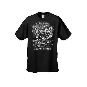 Men's/Unisex T Shirt United States Army This We'll Defend Short Sleeve Tee