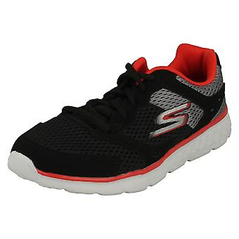 Boys Skechers Casual Lace Up Trainers Zodox 97681 - Black/Grey/Red Textile - UK Size 11.5 - EU Size 29 - US Size 12.5