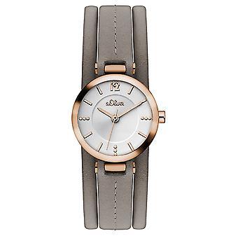 s.Oliver women's watch polshorloge lederen SO-3120-LQ