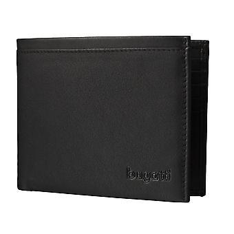 Caja de tarjeta de Bugatti Veloce hombres cartera monedero negro 3583