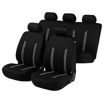 Hastings Car Seat Covers-Grey&Black For Renault MEGANE CoupéCabriolet 2003-2008