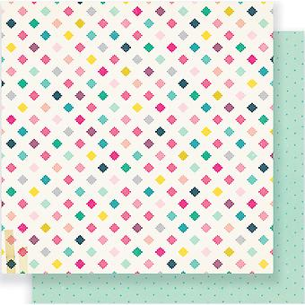 Cute Girl Double-Sided Cardstock 12