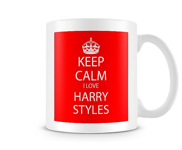 Keep Calm I Love Harry Styles Printed Mug