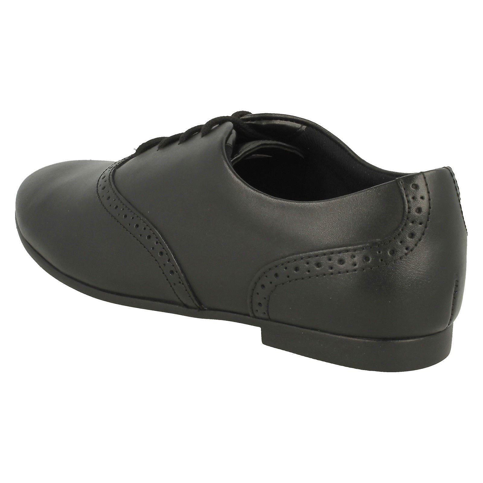 Clarks Jules Walk Black Leather Lace Up