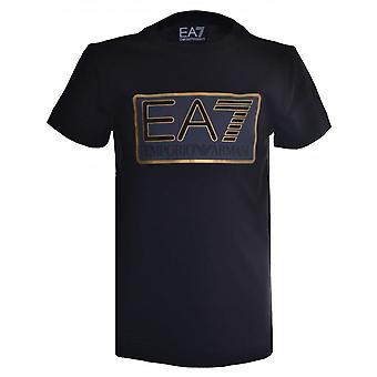EA7 Boys EA7 Kids Black T-Shirt