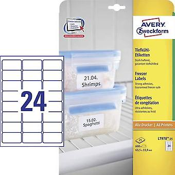 Papel de etiquetas Avery Zweckform L7970 25 63,5 x 33,9 mm