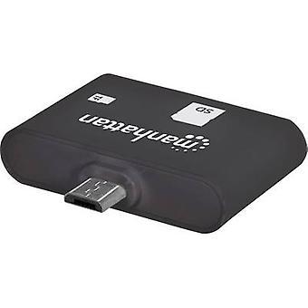 Manhattan USB 2.0 Adapter [1 x USB 2,0 stik Micro B - 1 x SD Card slot] 406208 incl. OTG funktion