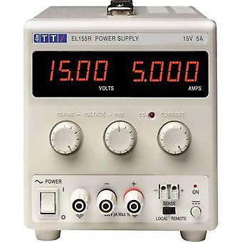 Aim TTi EL155R Bench PSU (adjustable voltage) 0 - 15 Vdc 0 - 5 A 75 W No. of outputs 1 x