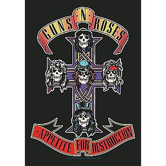 Guns N Roses Appetite For Destruction Large Fabric Poster / Flag 1100Mm X 750Mm