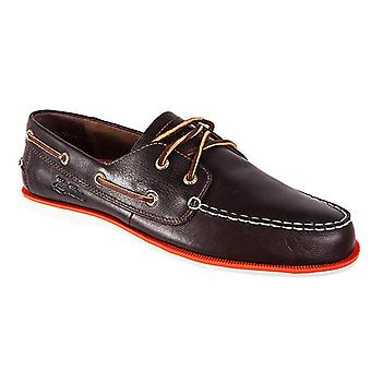 Helly Hansen deck classic leather men's boat shoes Brown