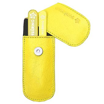 Stylish arrow ring manicure set manicure case nappa leather yellow glass nail files and tweezers