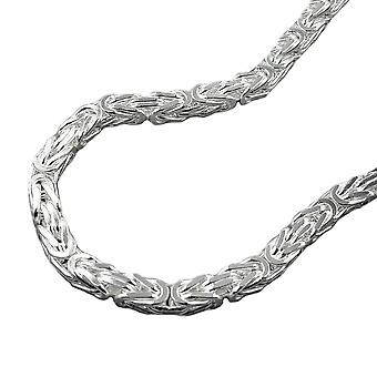 Armband ca. 3mm koning ketting vierkant glimmend 925 zilver 19 cm