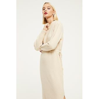 Cubic Knitted Drawstring Dress