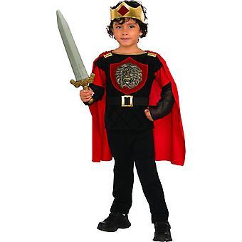 Carnaval de los niños de traje de caballero poco rey medieval Castillo del carnaval