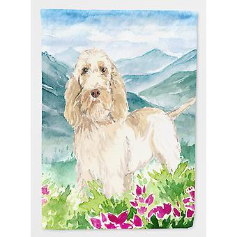 Mountian Flowers Spinone Italiano Flag Canvas House Size