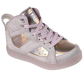 Kids Girls Skechers Energy Lights E Pro II Lavish Lights Party Trainers - Light Pink - 9.5