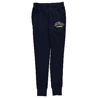 Lonsdale Kids Girls Closed Hem Jogging Bottoms Jersey Trousers Pants Drawstring