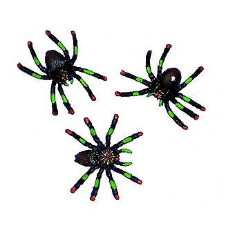 8 Assorted 5cm Plastic Spiders Halloween Party Bag Fillers for Kids