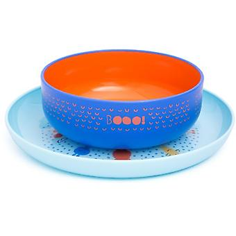 Suavinex Plate + Bowl Booo Blue (Childhood , Mealtime , Children's Tableware)