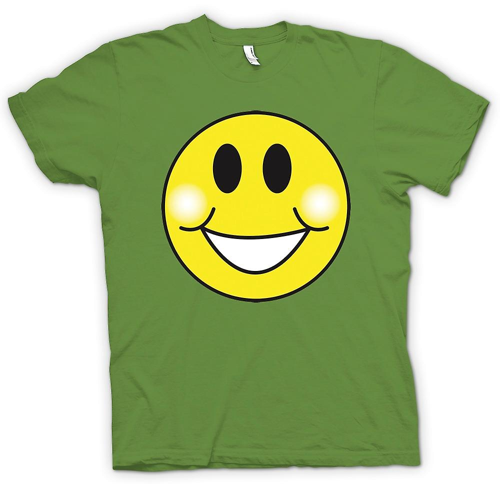 Heren T-shirt - Smiley Face - mollige wangen - Acid House