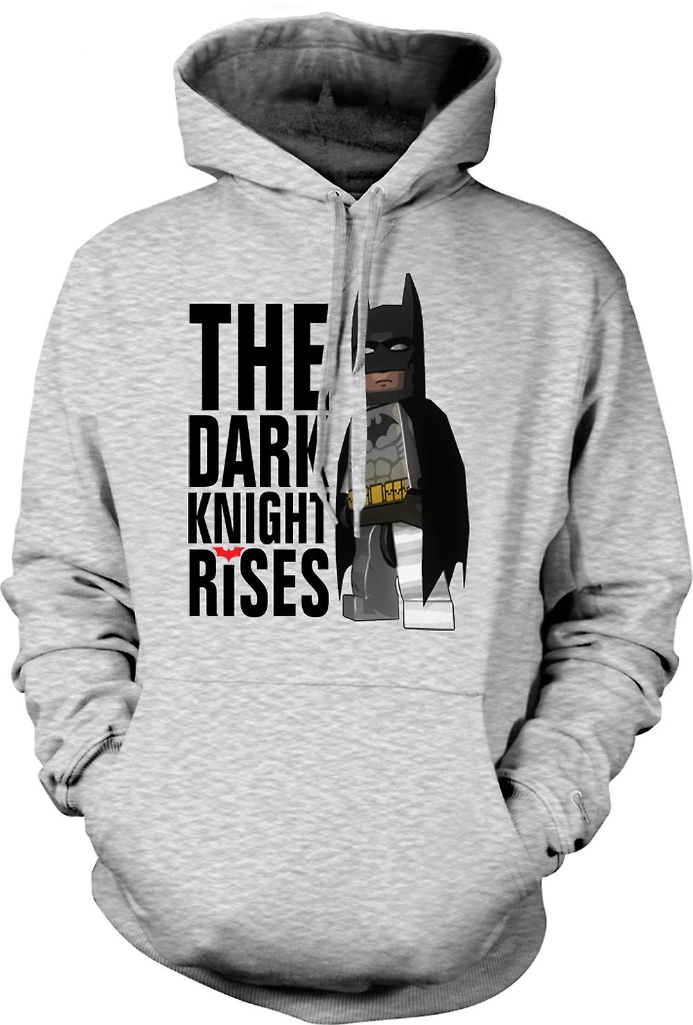 Mens-Hoodie - Batman Lego Super Hero - Dark Knight Rises