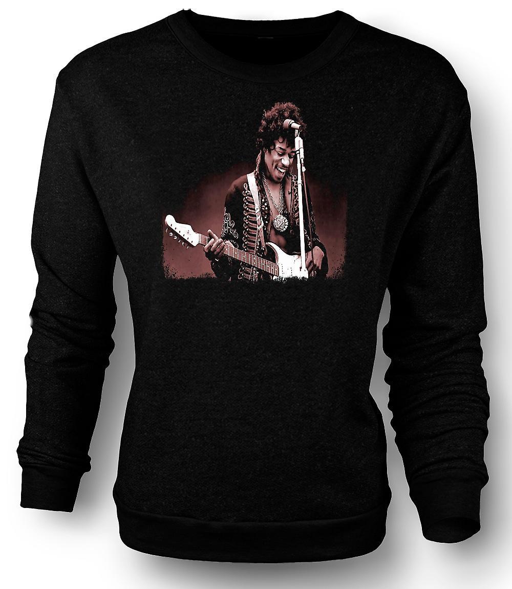 Retrato de Jimi Hendrix - Sepia - camiseta para hombre