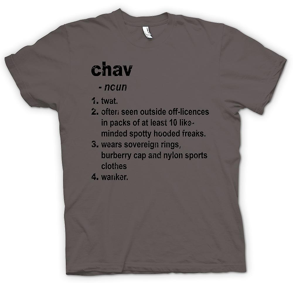 Womens T-shirt - Chav Defination - Brilliantly Funny Dictionary